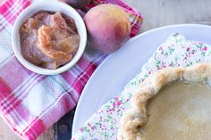 Buttermilk Pie with Bourbon Brown Butter Peaches. It's a Pie Party!