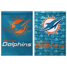 Officially Licensed NFL Double-Sided Glitter Flag - Miami Dolphins