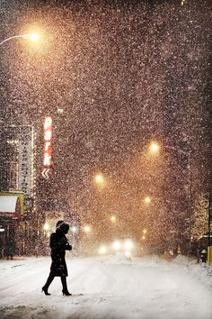 snowfall....