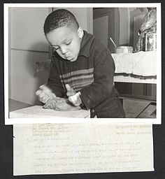 Citation: A young boy named William at one of the Federal Art Project's sculpture classes at the Brooklyn Children's Museum, 1939 Mar. 9 / Andrew Herman, photographer. Federal Art Project, Photographic Division collection, Archives of American Art, Smithsonian Institution.