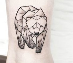 Bear tattoo by Olga Sienkiewicz