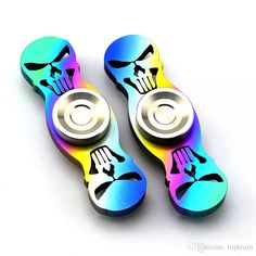 Rainbow Fidget Spinner Titanium Alloy Hand Spinner Colorful Edc Finger Gyro Handspinner Spinning Top Decompression Toys Squeeze Stress Relievers Best Stress Toys From Topteam, $12.77  Dhgate.Com