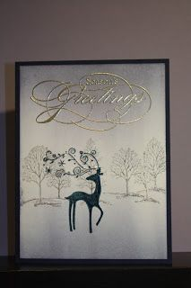 """Sheri's Paper Creations **** SU """"Lovely as a Tree"""", active & """"Dasher"""", retired (dup pin) Stamped Christmas Cards, Christmas Card Crafts, Homemade Christmas Cards, Christmas Cards To Make, Christmas Deer, Xmas Cards, Homemade Cards, Holiday Cards, Christmas Scrapbook"""