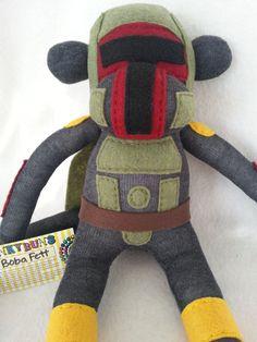 Boba Fett Sock Monkey by MunkybunsSockToys on Etsy