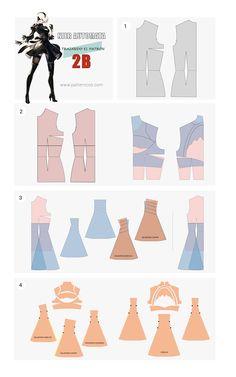 Cómo hacer el vestido de 2B | Cosplay Tutorial | Nier Automata