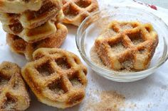 5 Minute Cinnamon Sugar Waffle Bites is a great breakfast when you have little time. Incredible!
