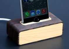 spec.dock is a handcrafted, solid wood dock for iPod, iPhone and Android devices.