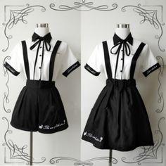 Cosplay Outfits, Edgy Outfits, Anime Outfits, Mode Outfits, Skirt Outfits, Pretty Outfits, Pretty Dresses, Kawaii Fashion, Lolita Fashion