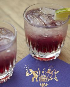 school color themed drinks - purple