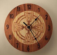 Celtic knot clock Wood clock Wall clock by BunBunWoodworking