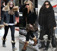 SOREL-Youth-Tofino-Print-Boot-Black-Blue-Flowers-Joan-of-Arctic-Y4-US Heather Locklear Elle Macpherson Demi Moore