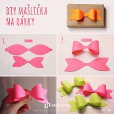 DIY mašlička na dárky - včetně šablony mašličky ke stažení.