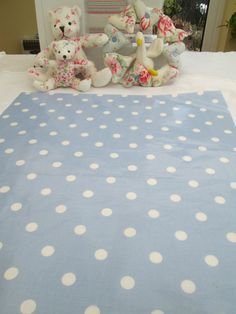 BN Scrumtious Laura Ashley Oilcloth Remnant In Cornflower Blue