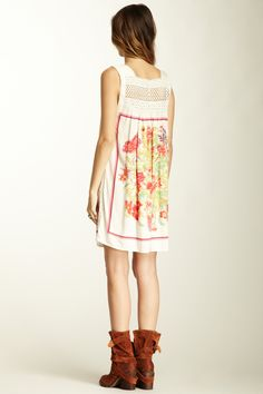 Free People Fiesta Print Dress :: want those boots,too