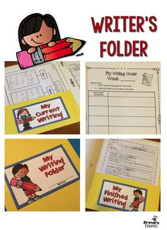 Free Download!  I have found that it helps students so much to have a special place to keep their writing!  Then they always know where to look for their cutest writing projects.  (Well - most will ;))