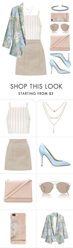 """Nora"" by brie-the-pixie ❤ liked on Polyvore featuring Topshop, New Look, Semilla, Kate Spade and Christian Dior"
