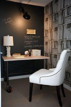 parede lousa + mesa canos de ferro