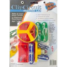 This easy to build electronics kit features components that clip together, no soldering required. Includes marked and colour-coded pieces and 14 cool educational circuits.#toys2learn#heebiejeebies#science#circuits#electricity#kits#kids#children#gifts#educational#toys#austrlaia#