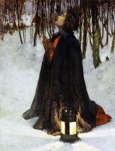 "George Hitchcock (American, 1850–1913) ""A Dream of Christmas"""