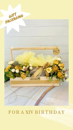 Birthday Decorations, Table Decorations, 21st Birthday Gifts, Gift Packaging, Manners, Yellow Flowers, Gift Baskets, Gift Wrapping, Home Decor