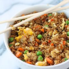 "Quinoa ""Fried Rice"" - I added starkist sweet and spicy tuna.... Yum!"