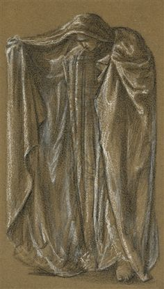 STUDY FOR THE FIGURE OF MINERVA IN THE CALL OF PERSEUS - Edward Burne-Jones