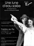 French language production of Salt-Water Moon, translation by Antonine Maillet. Theatre Posters, Movie Posters, New Brunswick, Salt And Water, French Language, David, Moon, The Moon