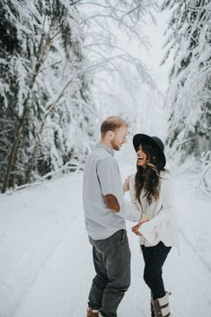 The Cutest Winter Engagement ShootYou can find Winter engagement and more on our website.The Cutest Winter Engagement Shoot Winter Couple Pictures, Winter Engagement Pictures, Country Engagement Pictures, Unique Engagement Photos, Engagement Shots, Engagement Photo Outfits, Engagement Photo Inspiration, Engagement Photography, Fall Engagement