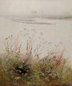 Web umenia   Ladislav Mednyánszky - Zakvitnutý breh rieky