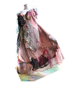 Unique Art To Wear Dress SEXY CINDERELLA  Dusty Pink by Paulina722, $328.00
