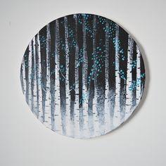 Acrylic painting by Hammi´s Design.   Koivumaa-maalaus <3  #mustavalko #turkoosi #maalaus #sisustus #hammisdesign Paintings, Design, Paint, Painting Art, Painting, Painted Canvas, Drawings, Grimm