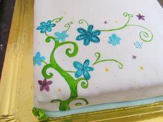 Torta pintada a mano