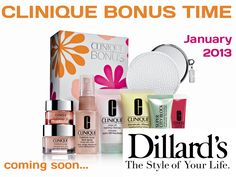 The next Clinique bonus Time will be at Dillards. http://www.youtube.com/watch?v=-HNVauFXL54