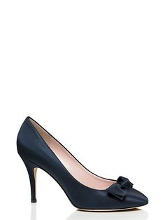 71a7952a66c dot heels - kate spade new york Satin Pumps, Blue Pumps, Cute Shoes,