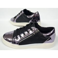 Dames Zwarte Slip On Sneaker met Rits