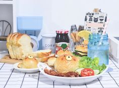 Burger Buns, Home Baking, How To Make Bread, Cute Food, I Foods, Rio, Kawaii, Instagram, How To Bake Bread
