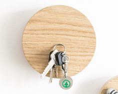 Magnetic key holder 2 in 1 wall hook key rack wooden coat