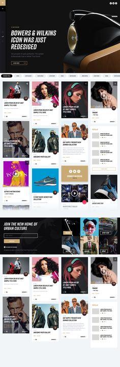 Urban Culture News Website WIP | #ui #ux #userexperience #website #webdesign #design #minimal #minimalism #art #white #orange #blue #travel #map #ecommerce #fashion