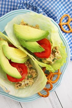 Avocado Tuna Salad Lettuce Wraps http://www.thecomfortofcooking.com/2013/05/avocado-tuna-salad-lettuce-wraps.html