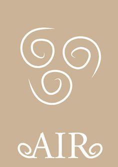 Air - Avatar The Last Airbender Team Avatar, Avatar Aang, Avatar The Last Airbender, Element Tattoo, Air Elemental, 4 Elements, Air Fire, Fifth Element, Legend Of Korra