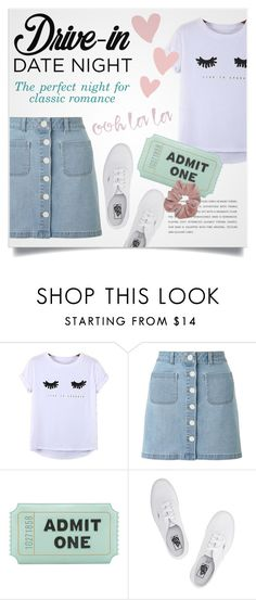 """""""Drive-in"""" by abbypskate ❤ liked on Polyvore featuring Chicnova Fashion, Miss Selfridge, Kate Spade, Vans, DateNight, drivein and summerdate"""