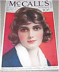 Vintage 1920s MCCALLS MAGAZINE COVER art BY P.HILL