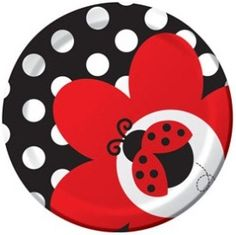 Ladybug Party Fancy Luncheon Paper Plates girls birthday
