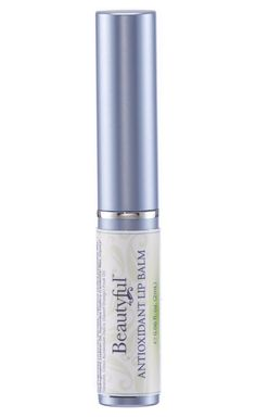 BeautyfulTM Antioxidant Lip Balm. Hydrate chapped lips and fight signs of aging with our BeautyfulTM Antioxidant Lip Balm. Vitamin C delivers antioxidants and stimulates collagen synthesis, defending your lips against external conditions and restoring a more youthful appearance. The lip moisturizer fights signs of aging caused by sun exposure and free radical damage. The rich, silky texture goes on smooth with a refreshing light citrus aroma. Not tested on animals. 0.06 oz.
