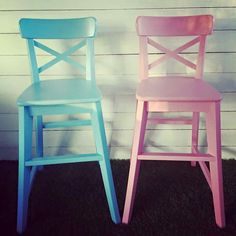 Restyled children's chair - by Revamped by Samantha