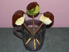 Sucette de fruit au chocolat !