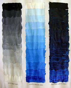 Art Education Blog: Monochromatic Painting Painting Lessons, Art Lessons, Monochromatic Art, Monochrome, Adult Art Classes, High School Art Projects, Jr Art, 4th Grade Art, Art Terms