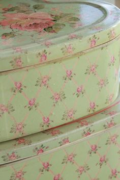 rose chintz tins