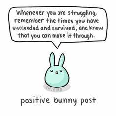 Positive bunny post