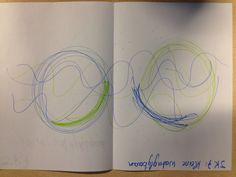 JK7: kleine waterglijbaan: schrijftekening